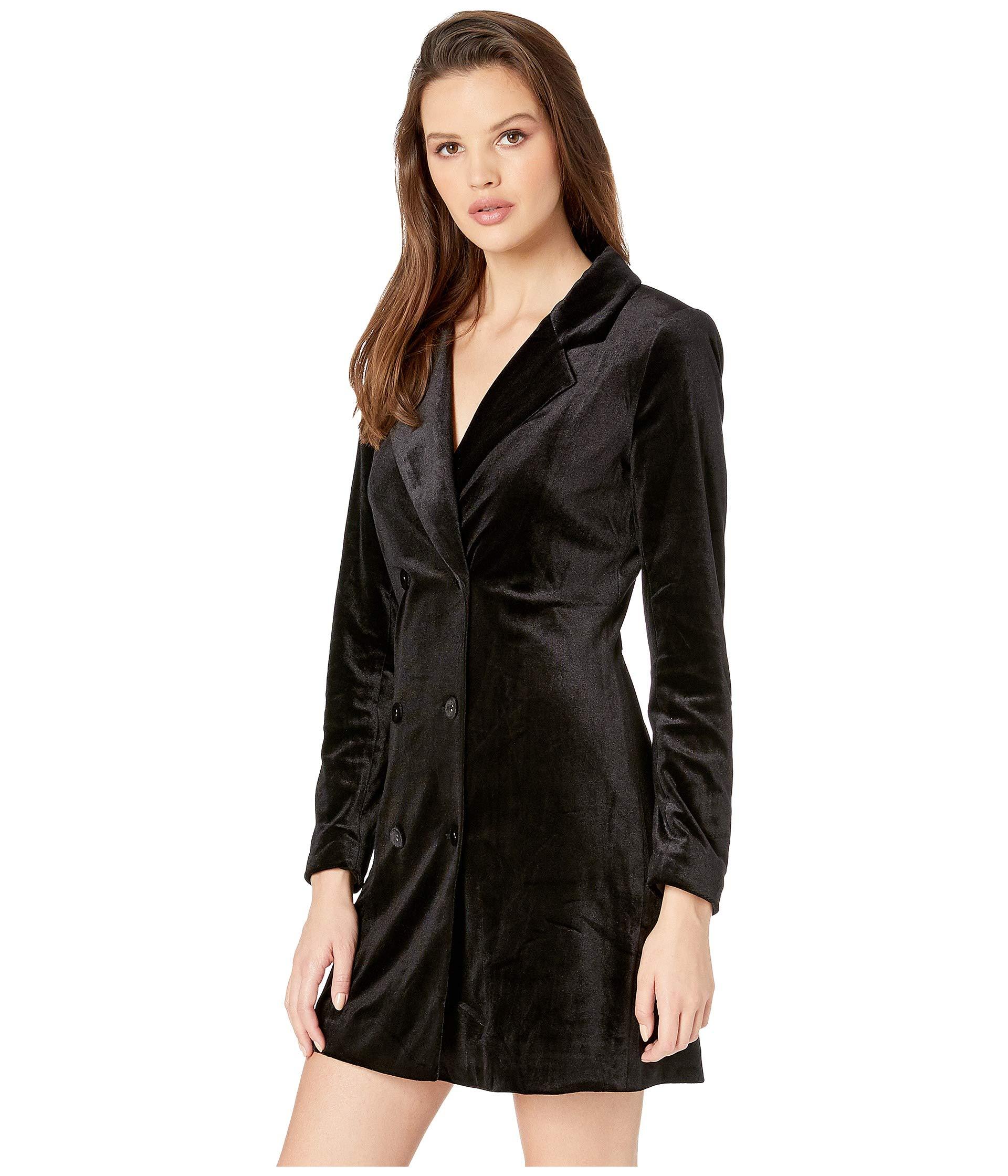 Yumi Dress Black Suit Velvet Up Kim qFxYR0