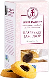 Unna Bakery, Raspberry Jelly butter cookie. 3.4 oz