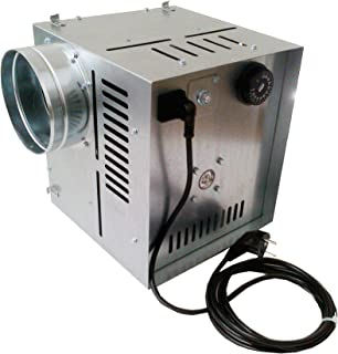 Darco WK de ventilador de aire caliente an2flujo de aire 600M3/H, Diámetro 150mm para la distribución de aire caliente, galva sincronizable