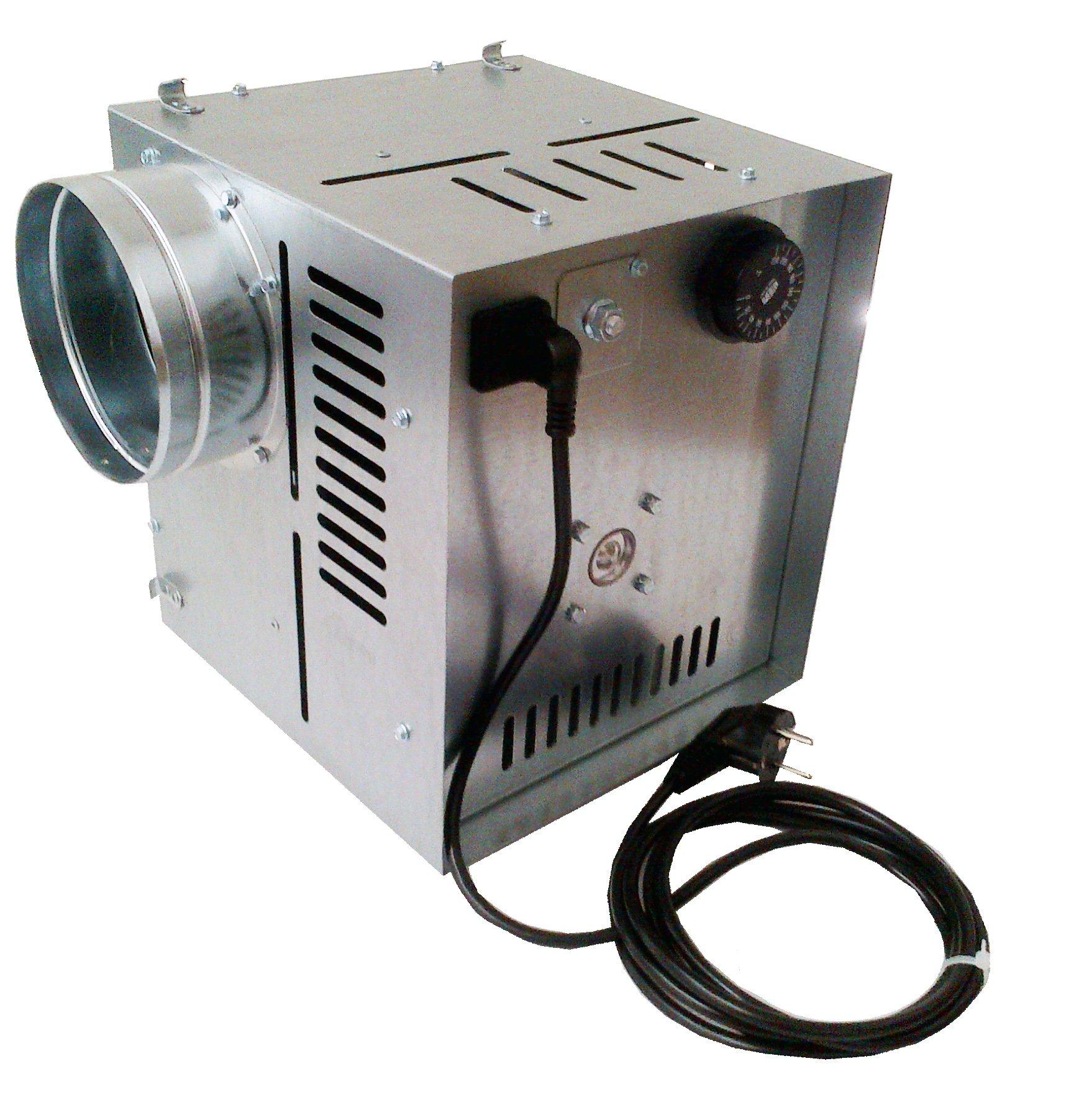 Darco - Ventilador de aire caliente WK AN1, flujo de aire de 400 ...