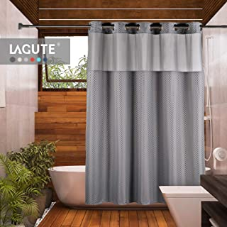 shower curtain with window at top