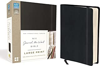 NIV, Journal the Word Bible, Large Print, Hardcover, Black: Reflect, Journal, or Create Art Next to Your Favorite Verses