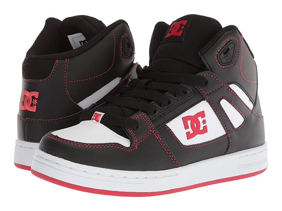 DC Kids Pure High-Top (Little Kid/Big Kid) (Black/Red/White) Boys Shoes