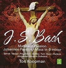 JS Bach : St Matthew Passion, St John Passion, B minor Mass