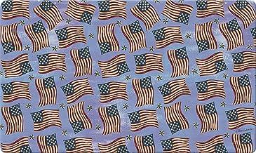 Toland Home Garden Waving Flags 18 x 30 Inch Decorative Floor Mat Patriotic USA America Flag Collage Doormat