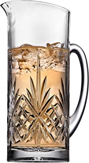 Dublin Collection Beverage Pitcher Carafe, Cocktail Bar Mixing Glass - 34oz