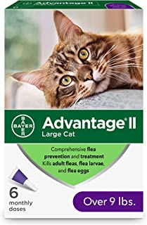 Bayer Animal Health Flea Prevention for Cats Over 9 lbs, 6 Pack, Advantage II