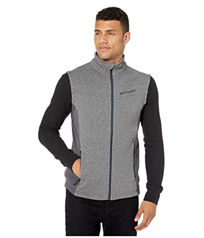 Spyder Encore Fleece Vest (Ebony) Men