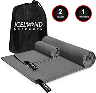 Iceland Outdoors 2 Size Towels for The Price of 1 -...