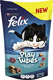 Felix Play Tubes Tuna & Crab Cat Treats, 50g