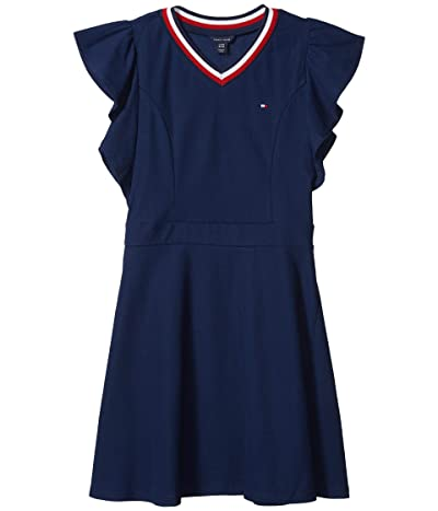 Tommy Hilfiger Kids Tommy Ruffle Dress (Big Kids) (Flag Blue) Girl
