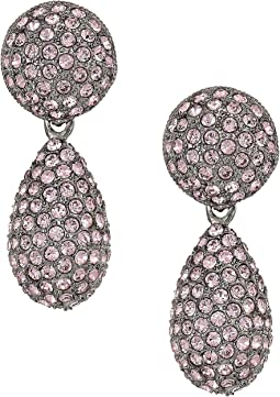 Nina - Medium Teardrop Pave Swarovski Stones Earrings