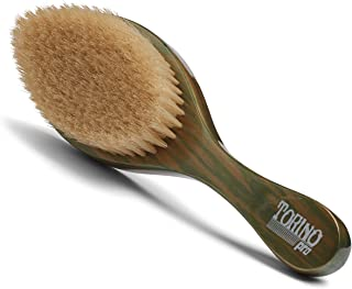 Torino Pro Wave Brushes By Brush King #86 - Curved Soft Wave Brush -100% boar bristles- Great 360 waves brush for laying down and polishing hair