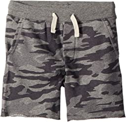 Camo Cotton French Terry Shorts (Little Kids)