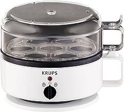 Krups F23070 eierkoker met waterniveau-indicator, voor maximaal 7 eieren, kook- en warmhoudfunctie, wit