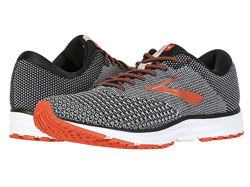 64690dd5dc2ee Brooks Revel 2 (Black Light Grey Orange) Men s Running Shoes