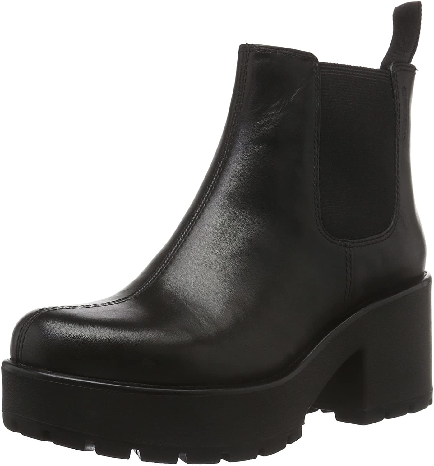 Vagabond Women's Dioon Leather Pull Max 78% OFF Boot Chelsea On Black Now free shipping