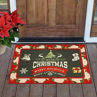 """Homcomoda Christmas Door Mat Indoor Outdoor 24""""x36"""" Low Profile Entrance Doormat Non Slip Door Rug Washable for Entryway D..."""