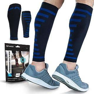 PowerLix Calf Compression Sleeve (Pair) – Supreme Calf Cramp & Shin Splint Sleeves for Men & Women – Leg Compression Socks...