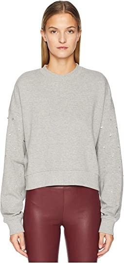 Sweatshirt with Rhinestones On The Sleeves