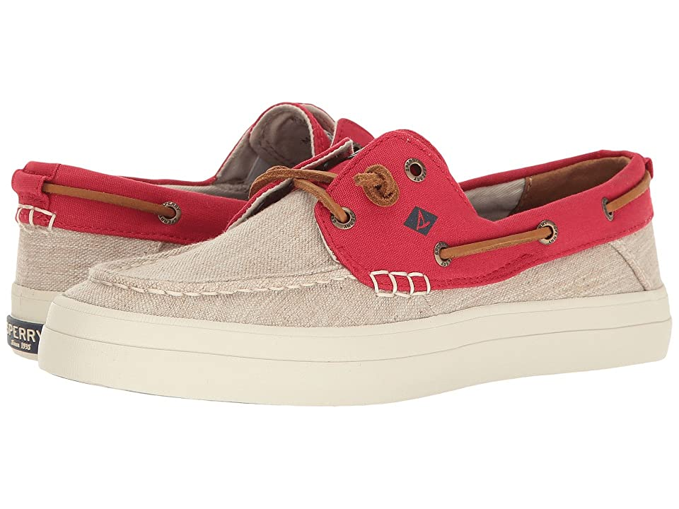 Sperry Crest Resort Canvas Two-Tone (Ivory/Red) Women