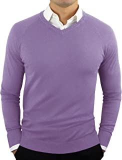 CC Perfect Slim Fit V Neck Sweaters for Men | Lightweight Breathable Mens Sweater | Soft Fitted V-Neck Pullover for Men