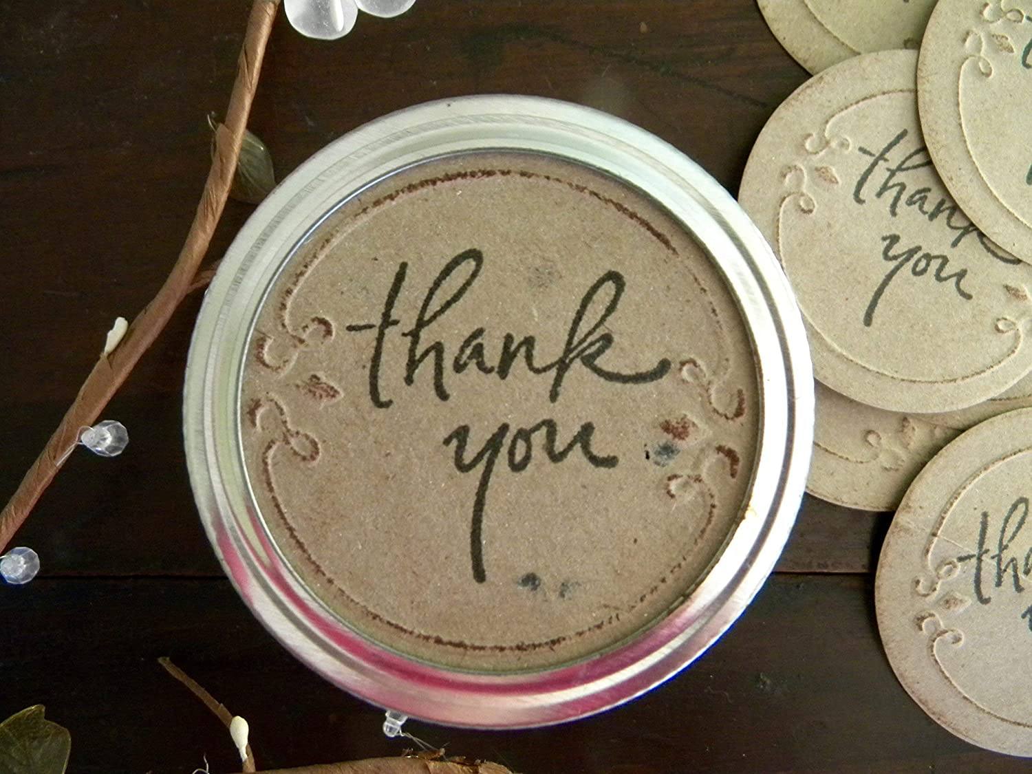 Thank Free shipping anywhere in the nation You Gift Mason Max 69% OFF Jar Stickers Canning Labels Favor Party