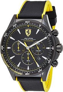 Ferrari Unisex-Adult Quartz Watch, Analog Display and Silicone Strap 830622