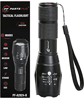 Parts Flix PF-A2024-B LED Tactical, Ultra Bright Zoomable, 5 Modes, Water Resistant, Handheld Light-Best Camping, Outdoor,...