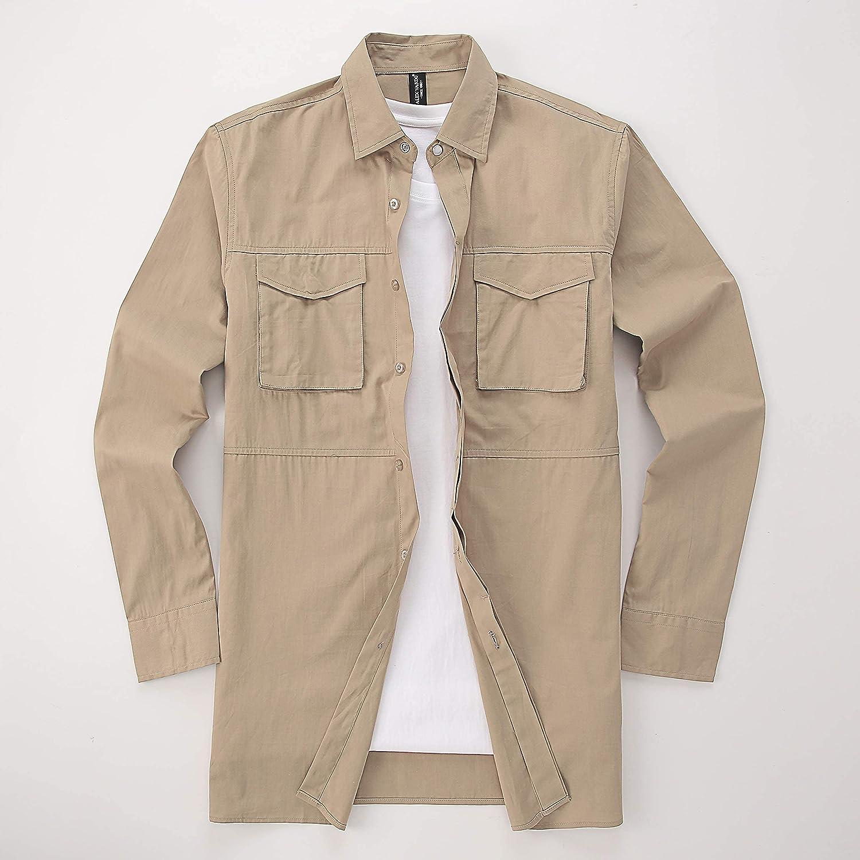 Alex Vando Mens Button Down Shirts Regular Fit Long Sleeve Cotton Casual Dress Shirt