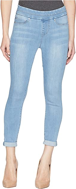 Petite Zoe Rolled Cuff Crop Pull-On in Silky Soft Stretch Denim in Normandie Light