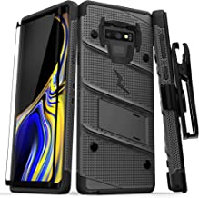 ZIZO Bolt Series Galaxy Note 9 Case with Holster, Lanyard, Military Grade Drop Tested and Tempered Glass Screen Protector for Samsung Galaxy Note 9 Cover - Gun Metal Gray/Black