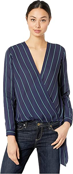 Friday Night Stripes V-Neck Top