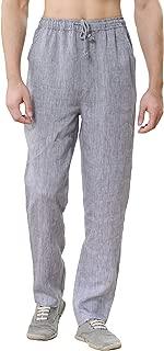Men's Summer Drawstring Waist Lightweight Linen Beach Pants