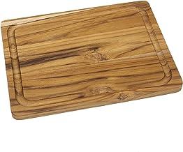 """Lipper International 7215 Teak Wood Edge Grain Kitchen Cutting and Serving Board, Small, 12"""" x 9"""" x 5/8"""""""