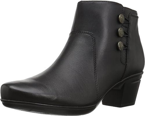Clarks - Bottines Emslie Monet pour Femme, 37.5 C D D EUR, noir Leather  protection après-vente