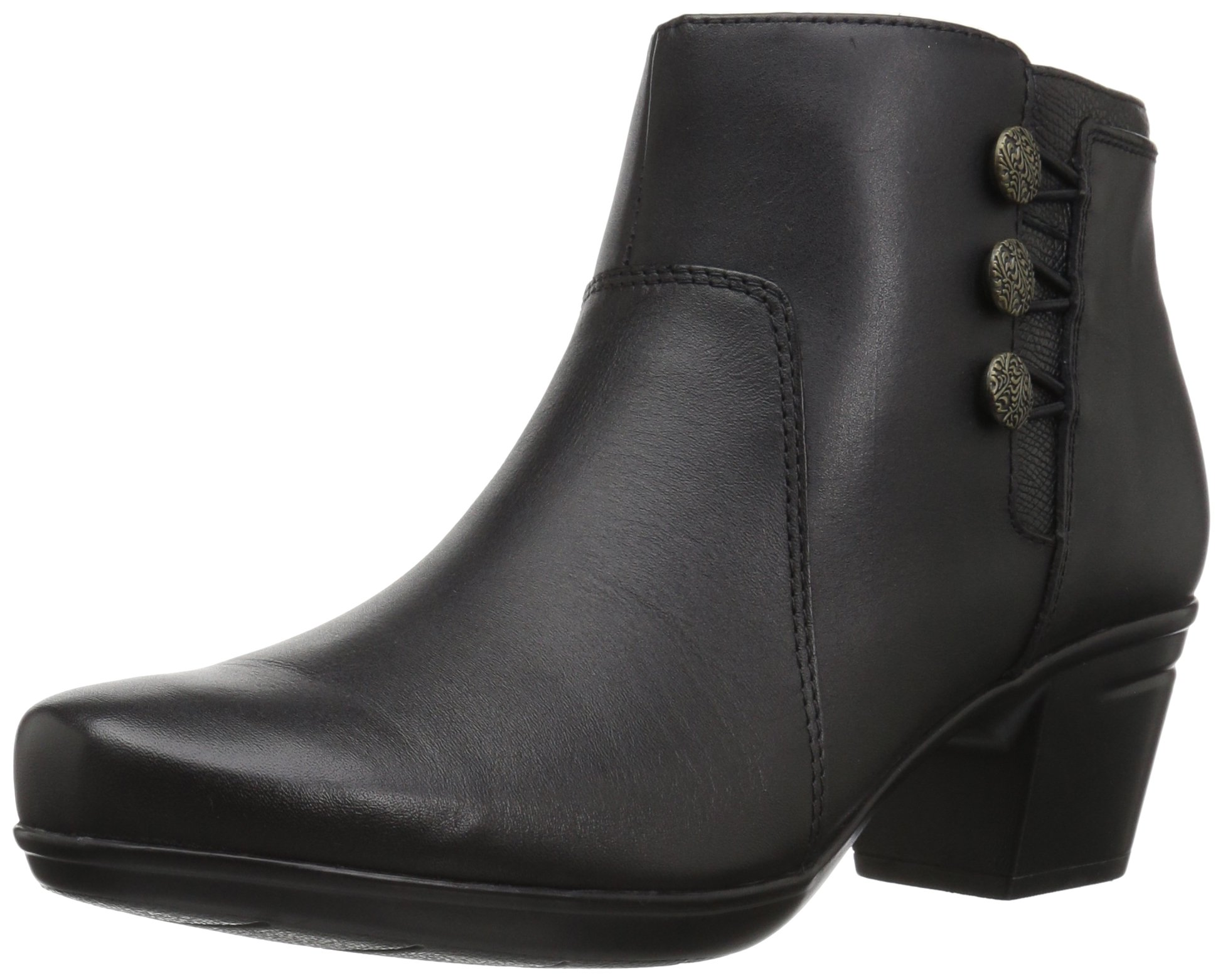 CLARKS Womens Emslie Bootie Leather