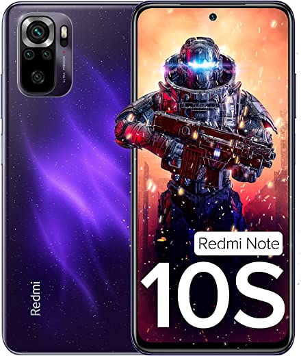 Redmi Note 10S (Cosmic Purple, 6GB RAM, 128GB Storage) - Super Amoled Display   64 MP Quad Camera  NCEMI Offer on HDFC Cards   6 Month Free Screen... 1