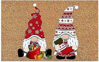 kristy Paillasson De Noël Paillasson Hiver Paillasson Antidérapant Paillasson Santa Snowflakes pour Intérieur Extérieur, 4...