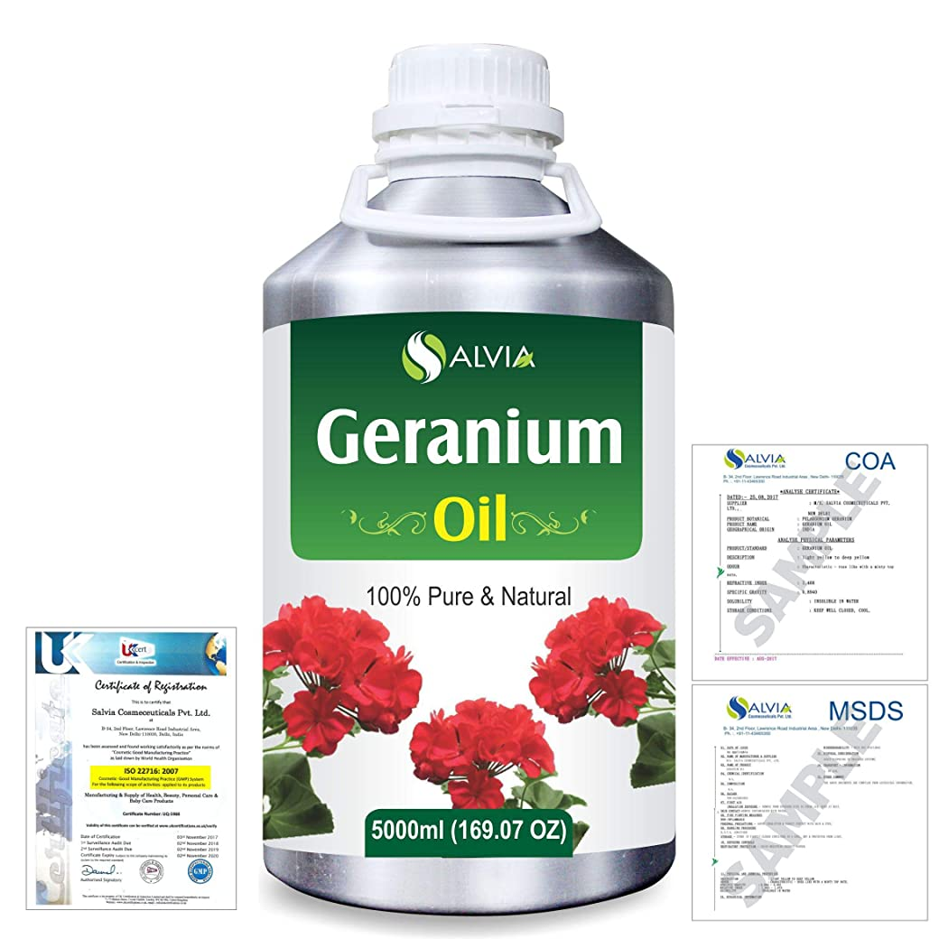 息切れモッキンバードクラウンGeranium (Pelargonium Geranium) 100% Natural Pure Essential Oil 5000ml/169fl.oz.