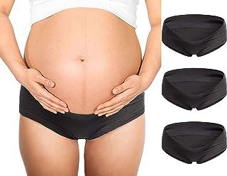 Zueauns Schwangerschaft Slip Baumwolle Umstandsslip Hohe Taillen Unterhose Bauch Unterst/ützung Einstellbare H/öschen 3er Pack
