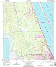 Florida Maps - 1949 Eau Gallie, FL USGS Historical Topographic Map - Cartography Wall Art - 44in x 53in