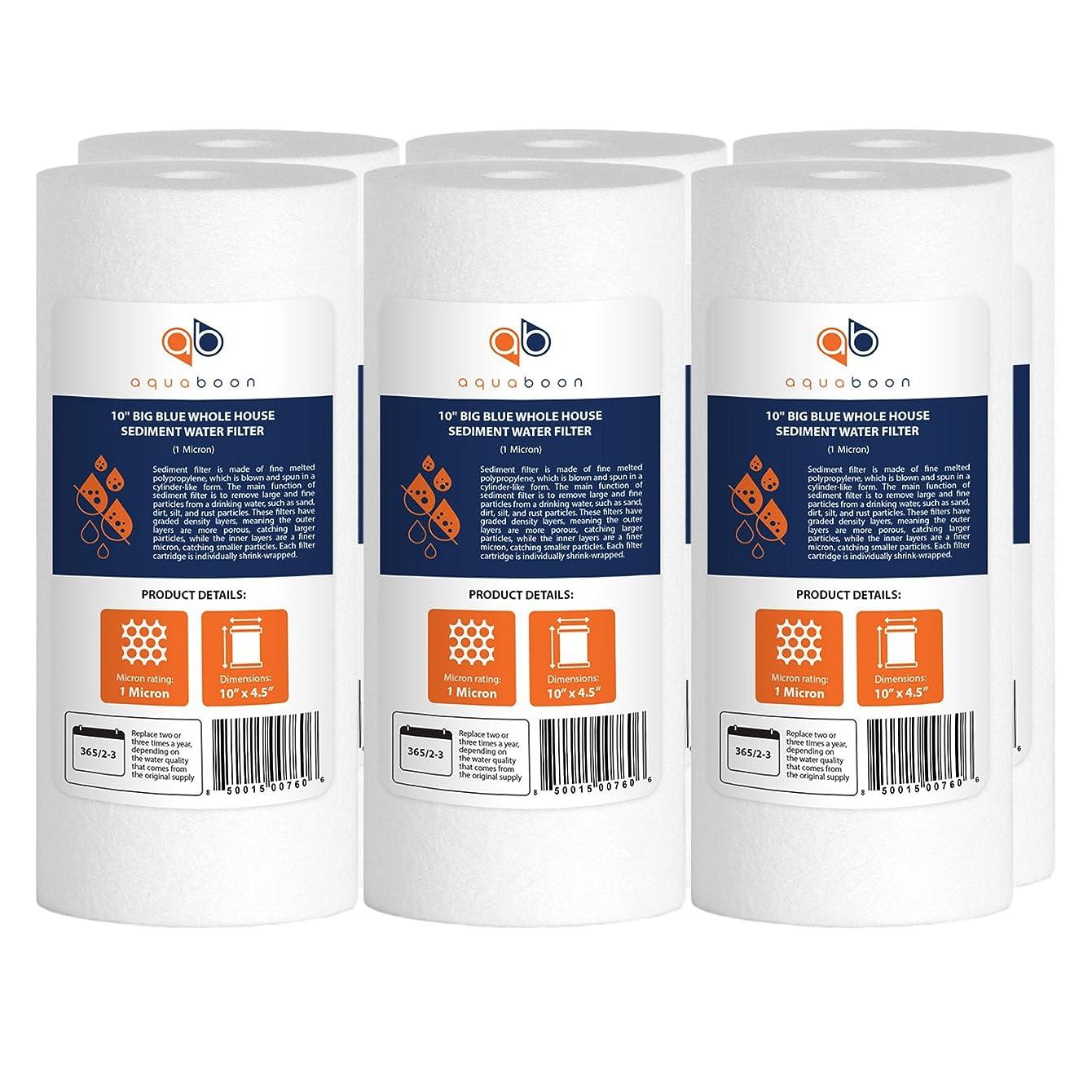 Aquaboon 6-Pack of 1 Micron 10
