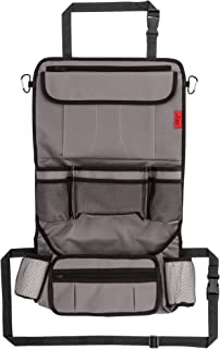 Car Back Seat Organizer with Larger Protection & Storage - 12 Compartments Including iPad Holder, Reinforced Corners to Prevent Sag, Eco Friendly Materials - Great Travel Accessory for Kids
