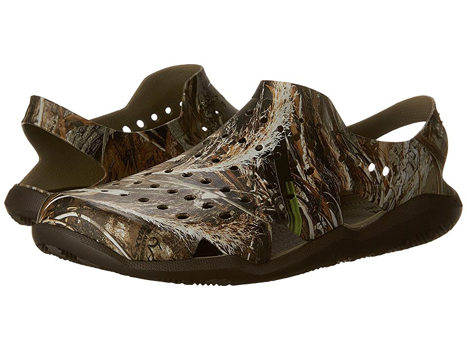 94f1963bcc1 Crocs Swiftwater Wave Realtree Max-5 (Espresso) Men s Sandals