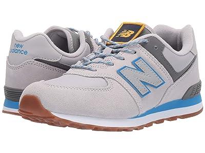 New Balance Kids Camp 574 (Big Kid) (Raincloud/Lapis Blue) Boys Shoes