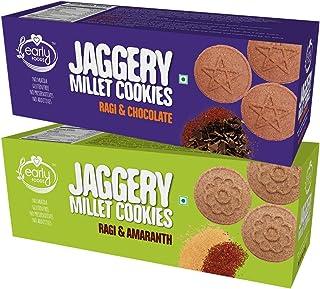Early Foods - Assorted Pack of 2 - Ragi Amaranth & Ragi Choco Jaggery Cookies X 2