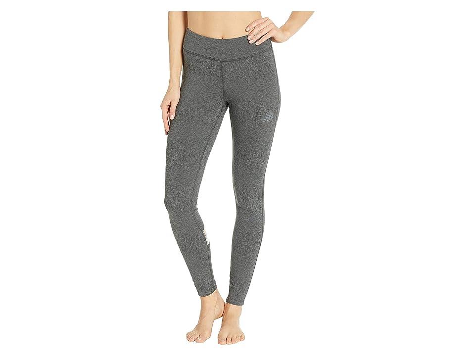 New Balance Athletics Leggings (Heather Charcoal/Charm White) Women