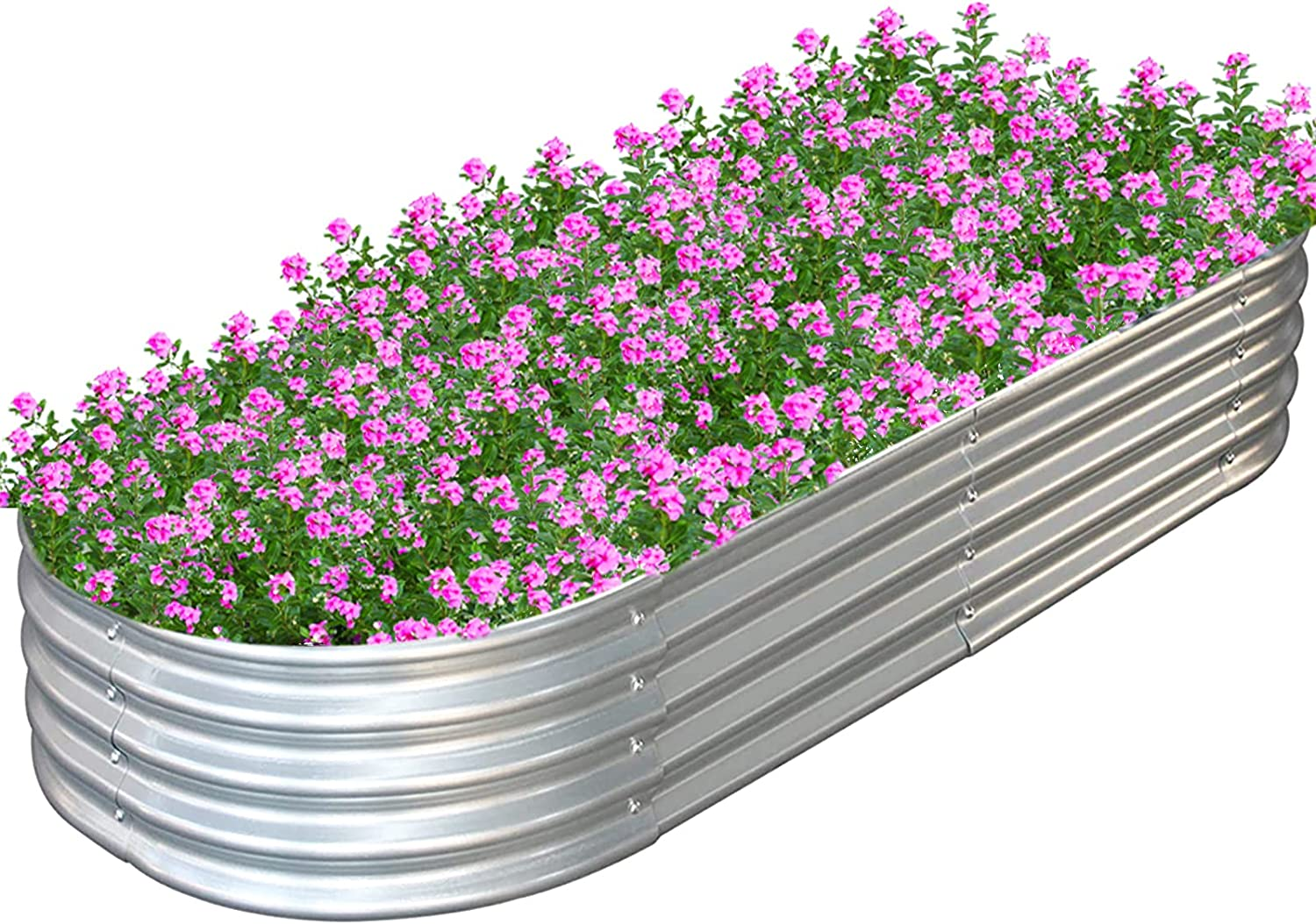 Raised Garden Bed Boxes Kit for Vegetables Flowers Fruits Metal Galvanized Above Ground Planter Box Outdoor 83'' L x 35.5'' W x 11.4'' H