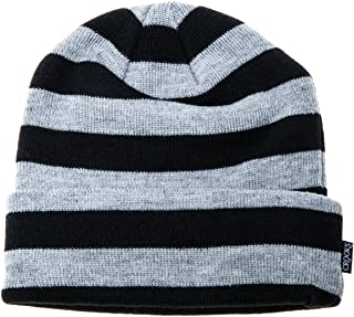 Crooks & Castles Mens Crooks Stripe Knit Beanie Hat